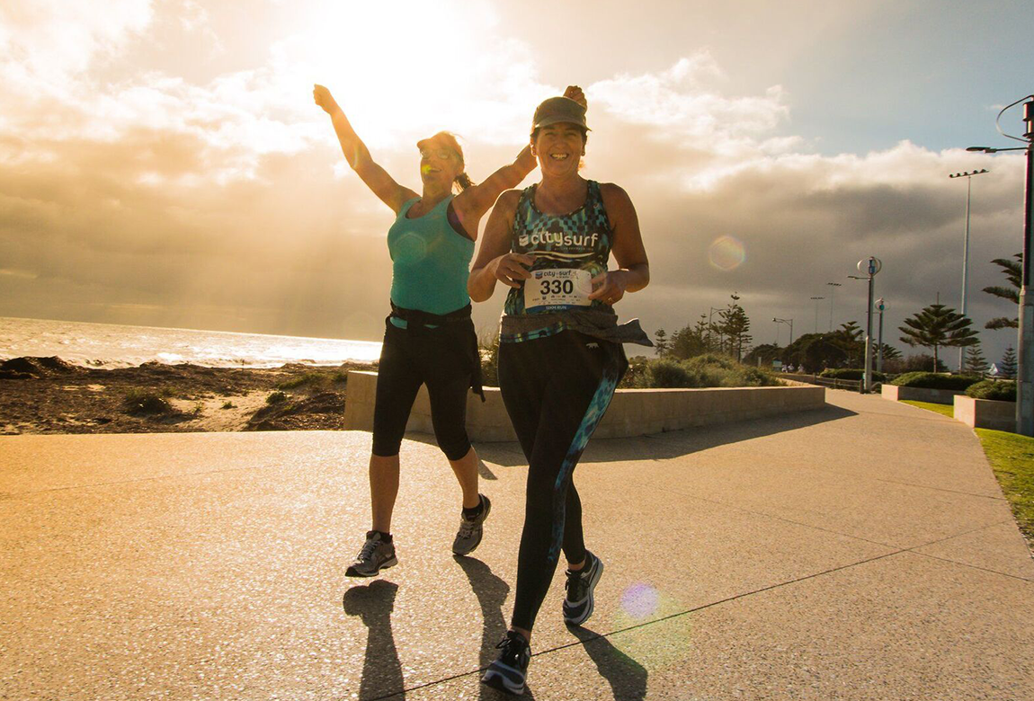 Get amongst the finish precinct festivities at the Chevron City to Surf for Activ